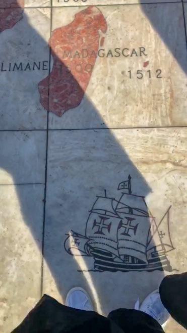 mapa descubrimientos Lisboa